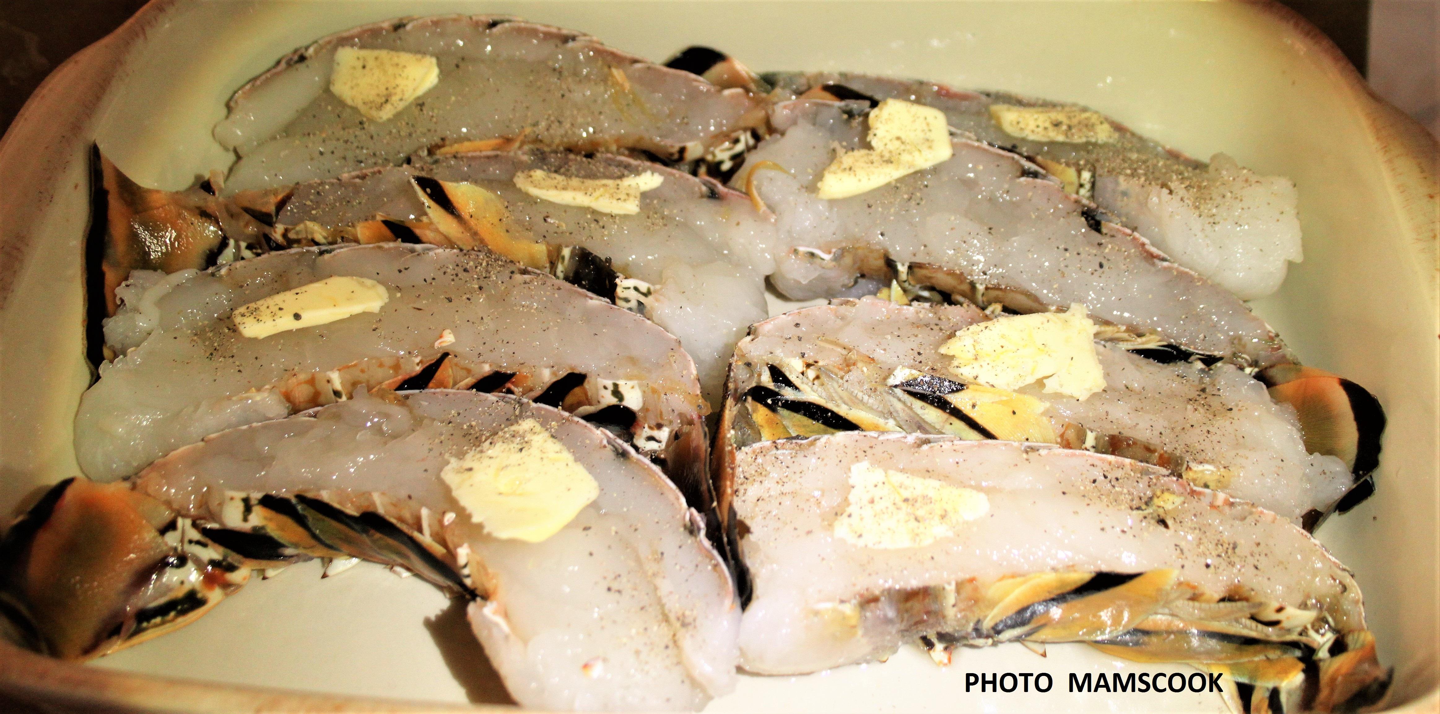 Queues de langoustes r ties sauce vierge la grenade - Cuisiner des queues de langouste ...